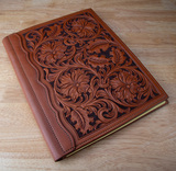 Beautiful, heavily tooled Leather Portfolio, in pristine condition, 12
