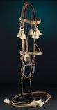 Fine early multi-color prison made horse hair Bridle attributed to Deer Lod