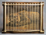 Antique Caged Tiger representing the saloon game of Faro, that was called