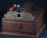 Unique antique, quarter sawn oak Cash Register, marked