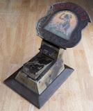 Antique, cast iron Cigar Cutter, advertising