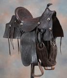 Early tooled Saddle, circa 1897, marked