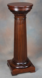 Beautiful antique, solid mahogany Pedestal with 14