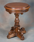 Antique, carved Lamp Table, circa 1920s-1930s with beautifully carved pedes