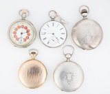 Collection of five Pocket Watches to include; (1) A gold Hunting Case Pocke