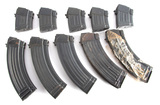 Group  of ten AK-47 style Magazines to include five 30 rounds and five 10 r