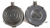 Two AK-47 style, 75 round Drum Magazines. WILL BE SOLD 2 X THE BID.