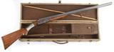Cased Parker Bros., double barrel, side by side, 12 gauge, Shotgun in fitte