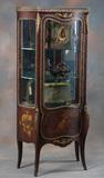 Antique Vernis Martin Curio, circa 1920s, trimmed in fancy Dore Bronze with