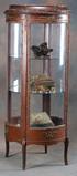Round (Plexiglas) Curio Cabinet with brass ormolu, circa 1960s, 28
