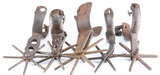 Group of five early Mexican Spurs, all singles, some have 6