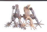 Group of five early Mexican Spurs, all singles, some have 3 1/2