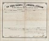 An original Texas Land Grant #729, signed by Sam Houston, 19 November, 1860