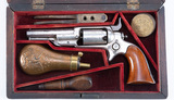 Antique, Cased Colt, 1855 Root Sidehammer, SN 1198, Model 2 in silver finis