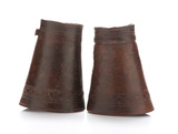 Pair of vintage tooled leather Roping Cuffs marked