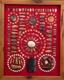 Unique & Historical Framed Collection of Indian Artifacts found on a farm n