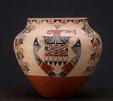 Beautiful Avian design Pottery, marked