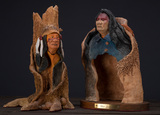 This  consists of two pieces of Clay Sculpture to include: (1)