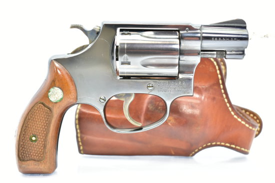 1969 Smith & Wesson, Model 36, 38 SPL cal., Revolver W/ Leather Holster