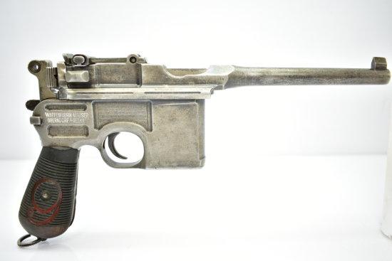 "1920 Mauser C96 Broomhandle ""Red Nine"", 9mm cal., Semi-Auto"