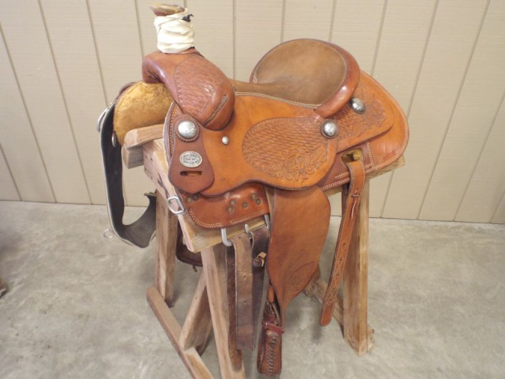 Ralph Shimon Roping Saddle Equine Livestock Horse Tack Saddle Auctions Online Proxibid