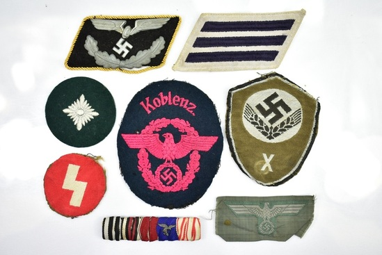 WWII German Nazi Uniform Patches | Firearms & Military