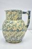 Antique Spongeware Stoneware Pitcher
