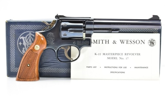 1977 Smith & Wesson, Model 17-4, 22 LR Cal., Revolver (In Box With Paperwork)
