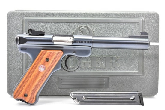 Ruger, Mark II Target, 22 LR Cal., Semi-Auto In Case W/ Extra Magazine & Paperwork