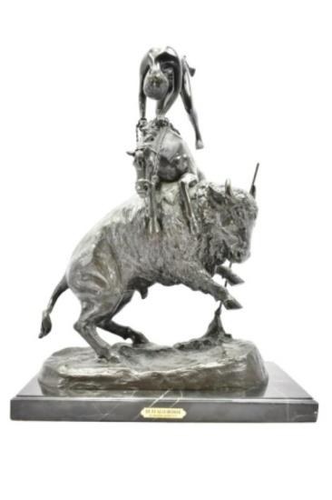 """Buffalo Horse"" By Frederic Remington Bronze Sculpture"