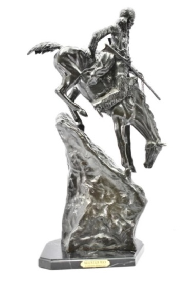 """Mountain Man"" By Frederic Remington Bronze Sculpture"