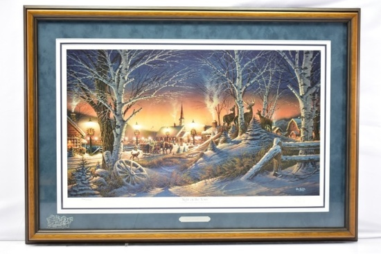 "1994 ""Night On The Town"" Signed Print By Terry Redlin W/ COA"