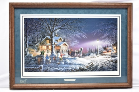 "1992 ""Winter Wonderland"" Signed Print By Terry Redlin W/ COA"