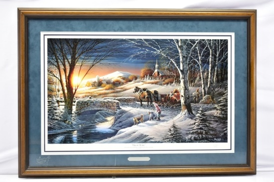 "1992 ""Almost Home"" Signed Print By Terry Redlin W/ COA"