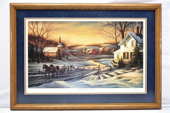 "1987 ""Together For The Season"" Signed Print By Terry Redlin"