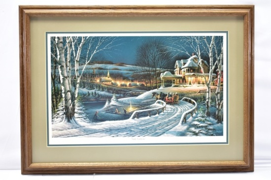 """1989 """"Family Traditions"""" Print By Terry Redlin"""
