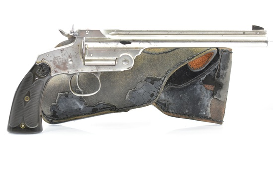 "Circa 1900 Smith & Wesson, Mod. 1891 ""Target"", 22 LR Cal., Single Shot W/ Holster, SN - 18878"