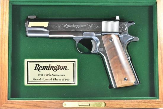 Cased Remington, 1911 Centennial 1 of 500, 45 ACP Cal., Semi-Auto, SN - JB1855358