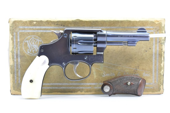 1948 Smith & Wesson, Model Of 1903 (Pre-30), 32 Long Cal., Revolver In Box W/ Grips, SN - 573763