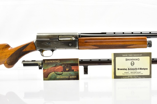 "1965 Browning Belgium, A5 ""Twenty"", 20 Ga., Semi-Auto, W/ Barrel & Paperwork, SN - 5Z92275"