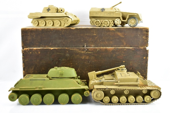 (4) WWII German Training Recognition Model Tanks W/ Original Box - Sells Together