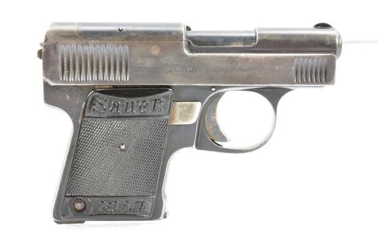 1920'S German J.P. Sauer, Model WTM 24, 6.5mm Cal., Semi-Auto, W/ Holster, SN - 7412
