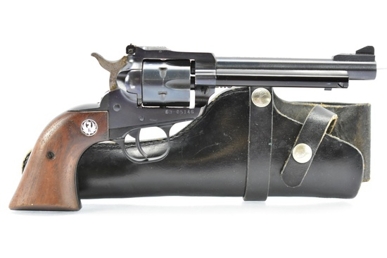 """1974 Ruger, New Model """"Single-Six"""", 22 LR Cal., Revolver, W/ Holster, SN - 63-05146"""