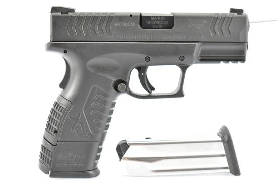"Springfield, XDm-9 ""Compact"", 9mm Luger Cal., Semi-Auto, In Case W/ Accessories, SN - MG766230"