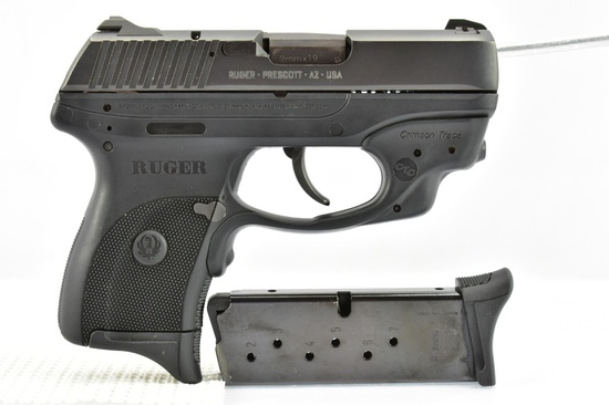 Ruger, LC9 (Crimson Trace Laser), 9mm Luger Cal., Semi-Auto, W/ Extra Magazine, SN - 323-77716
