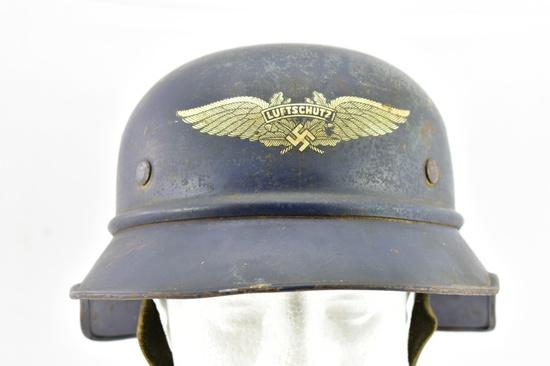 WWII German Luftschutz Air Raid Wardens Helmet