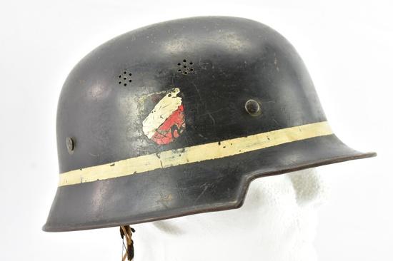 WWII German Luftwaffe Fire Brigade Double Decal Helmet