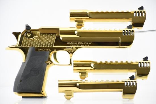 "Magnum Research, Desert Eagle Mark XIX ""Titanium Gold"" - Multi-Barrel Set -  SN DK0051850"