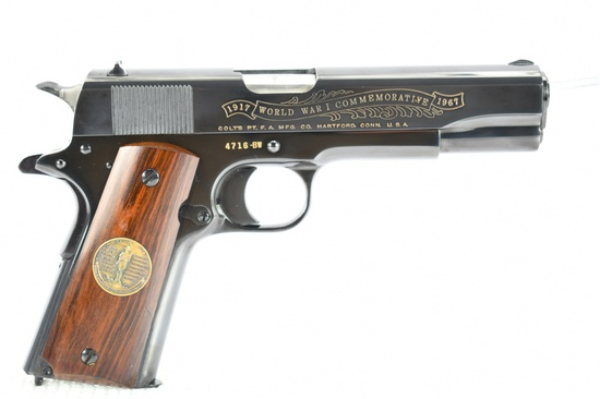"""1967 Colt, 1911 WWI Commemorative """"Deluxe Edition"""", 45 ACP Cal., (In Case), SN - 4716-BW"""