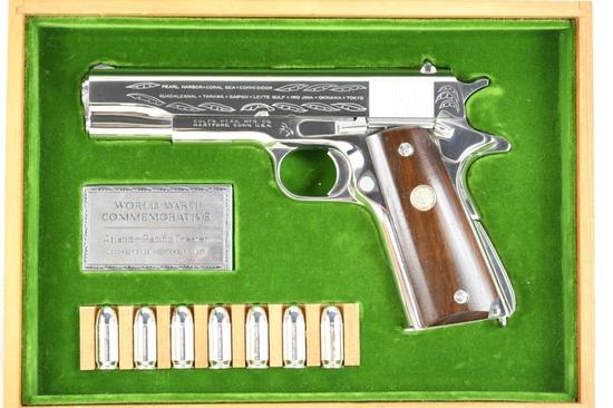 "1970 Colt, 1911 WWII ""Pacific Theater"" Commemorative, 45 ACP Cal., (In Case), SN - 4898PTO"